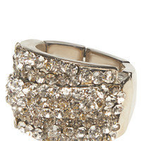 Layered Rhinestone Stretch Ring | Wet Seal