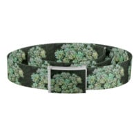 Green and White Wildflowers Belt