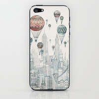 Voyages Over New York iPhone & iPod Skin   Print Shop