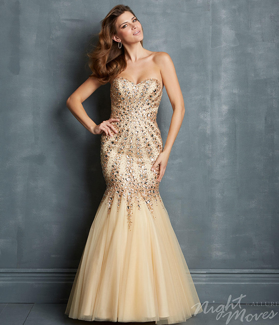 champagne colored mermaid prom dresses   Gommap Blog