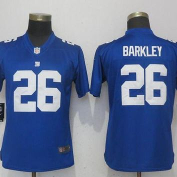 Women New Nike York Giants 26 Barkley Blue 2017 Vapor Untouchable Elite Playe