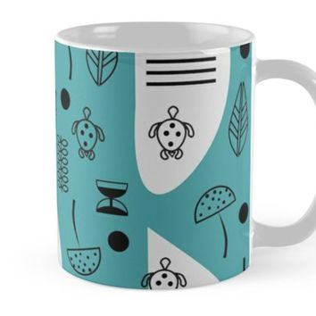 'Little turtles and mushrooms' Mug by cocodes