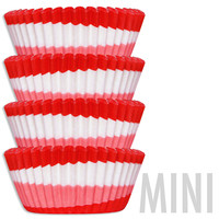 Mini Red Swirl Baking Cups