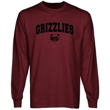 Montana Grizzlies Maroon Logo Arch Long Sleeve T-shirt