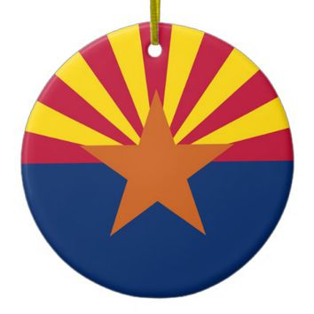 Ornament with flag of Arizona