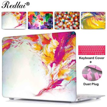 For Macbook Air 13 New 12 inch Case Pro Touch bar Laptop Case For Mac book Pro 13 15 with Retina Display Abstract Oil Painting