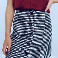 Game Day Skirt: Black/White