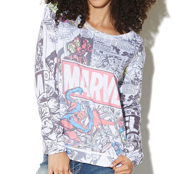 Marvel Heroes Sweatshirt | Wet Seal