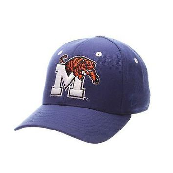 Licensed Memphis Tigers Official NCAA DHS Size 7 5/8 Fitted Hat Cap by Zephyr 508411 KO_19_1