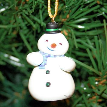 Licensed cool NEW Disney DOC MCSTUFFINS CHILLY SNOWMAN SNOW MAN Custom Christmas Ornament PVC