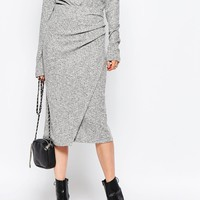 Just Female Picnic Pencil Skirt in Grey