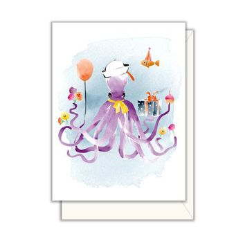 Party Octopus Enclosure Card