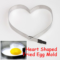 Kitchen Heart Shaped Cook Fried Egg Mold Stainless Steel Mould Kitchen Tools