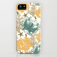 Aquatic Pattern 2 iPhone & iPod Case by Paula Belle Flores