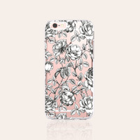 Floral Roses Clear Phone Case