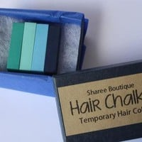 Blue and Teal 4 Hair Chalk Set from Sharee Boutique