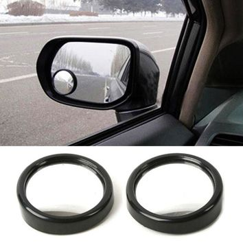 1Pair 360 Wide Angle Auto Side Round Convex Mirror Car Vehicle Blind Spot Dead Zone Mirror Rear View Mirror Small Round Mirror