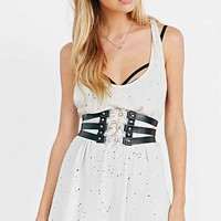 JAKIMAC Leather Corset Belt- Black