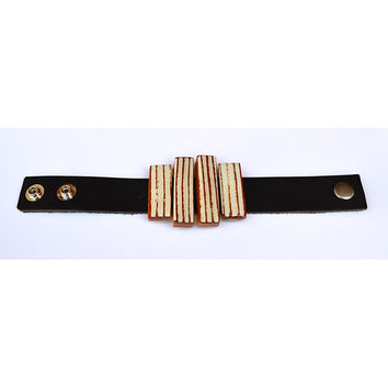 wood and leather  bracelet 3