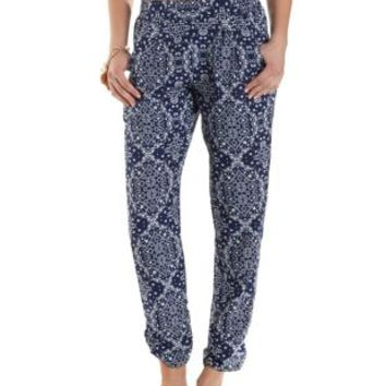 Paisley Print Jogger Pants by Charlotte Russe
