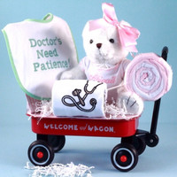 Personalized Pretty Baby Girl Doctor Gift Set