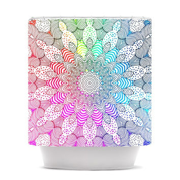 "Monika Strigel ""Rainbow Dots"" Shower Curtain"