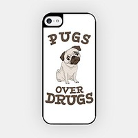 for iPhone 6/6S - High Quality TPU Plastic Case - Pugs Over Drugs - Pug Lover - Dog Lover - Cute Pug