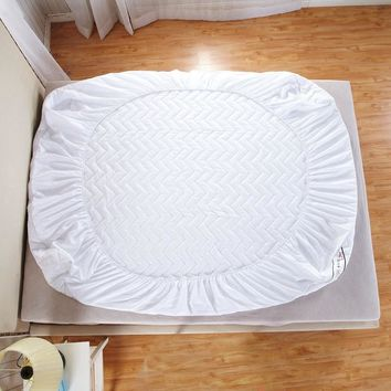 Customizable quilted Mattress protective Cover with Rubber fillings pad thin sanding cotton for four-Seasons mattress topper