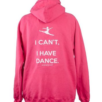 Covet Dance Clothing - I Can't, I Have Dance Hoodie, , Wildberry, Large