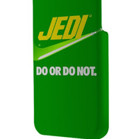 Best 3D Full Wrap Phone Case - Hard (PC) Cover with Green Jedi Star Wars Nike Parody Design
