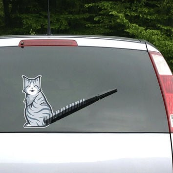 Moving Tail Car Decal