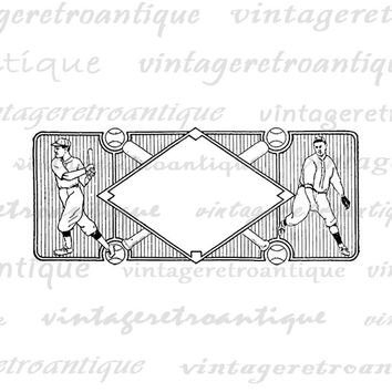 Vintage Baseball Design Graphic Digital Image Sports Printable Download Antique Clip Art Jpg Png Eps  HQ 300dpi No.4297