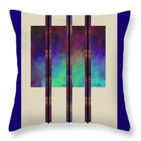 "abstract - art- Earth Song Throw Pillow for Sale by Ann Powell - 14"" x 14"""