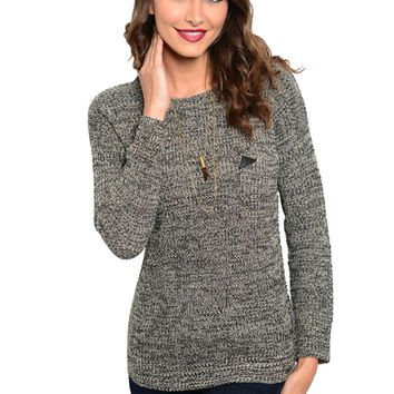 Long Sleeve Pull Over Crew Neck Sweater