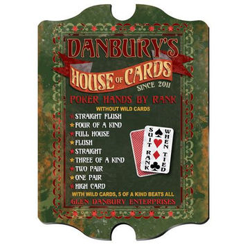 Vintage Series Personalized Signs  - HOUSECARDS