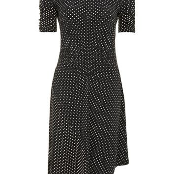 Polka Dot Ruched Midi Dress - New In Dresses - New In