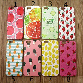 Summer Pineapple Watermelon Lemon Strawberry Case Cover for iPhone