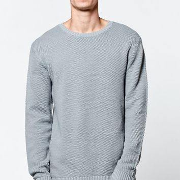 Modern Amusement Chunky Waffle Knit Sweater - Mens Sweater - Gray