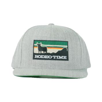Silver Rodeo Time Sunset Snapback