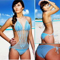 Crochet bikini, Crochet monokini, Swimsuit, Bathing Suit