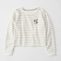 Womens Embroidered Crew | Womens Tops | Abercrombie.com