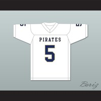 Emmit Gooden 5 Independence Community College Pirates White Football Jersey