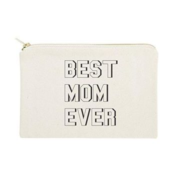 Modern Best Mom Ever Mother's Day Gift, Cosmetic Bag and Travel Make Up Pouch