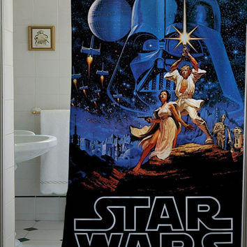 Retro Star Wars Shower Curtain that will make your bathroom adorable