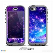 The Glowing Pink & Blue Starry Orbit Skin for the iPhone 5c nüüd LifeProof Case
