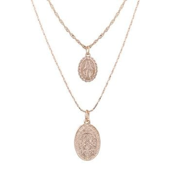 Elon Saint Layer Necklace - Gold