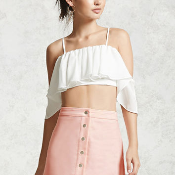 Buttoned Mini Skirt