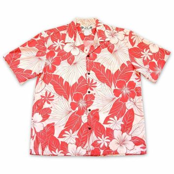 Haven Coral Hawaiian Cotton Shirt