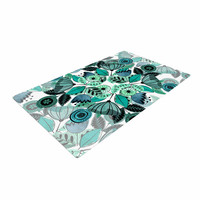 "Famenxt ""Mint Sognare"" Green Abstract Woven Area Rug"