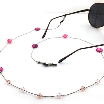 Women Handmade Vintage Stones Beaded Eyeglass Eyewears Sunglasses Reading Glasses Chain Cord Holder neck strap Rope